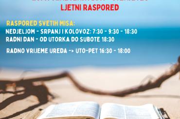 Ljetni raspored