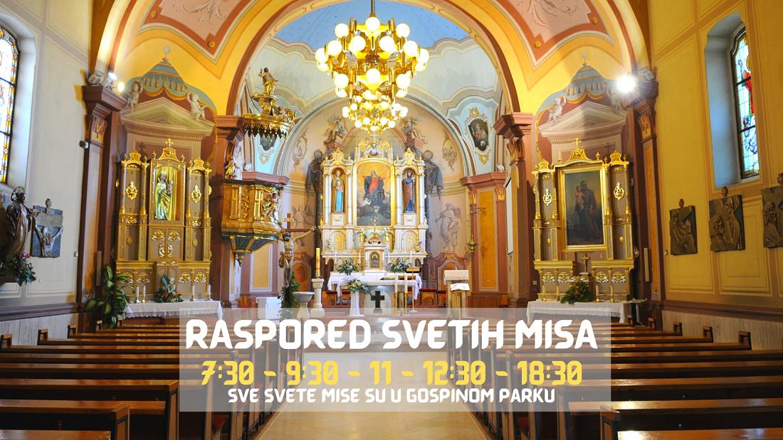 Redoviti raspored nedjeljnih svetih misa!